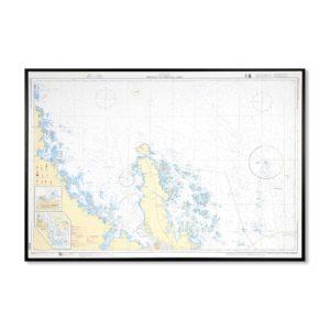 Sjökort-535-för-vägg-Öregrund-Grundkallen-Björn-INT1778SE535-01