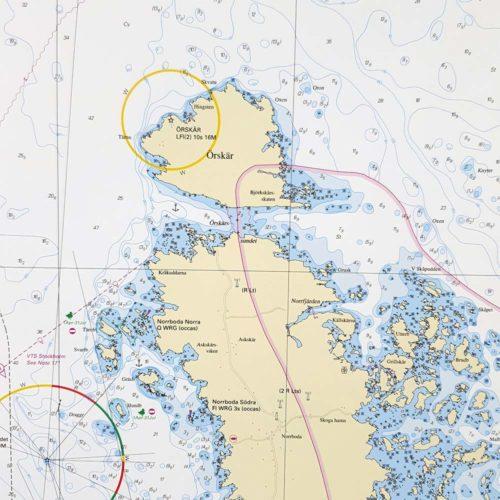 Sjökort-för-vägg- Öregrund-Grundkallen-Björn-INT1778SE535-02