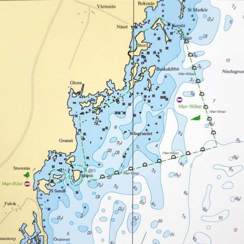 Sjökort för väggen-Ölands-Södra-Udde-Kalmar-INT1223SE713-02