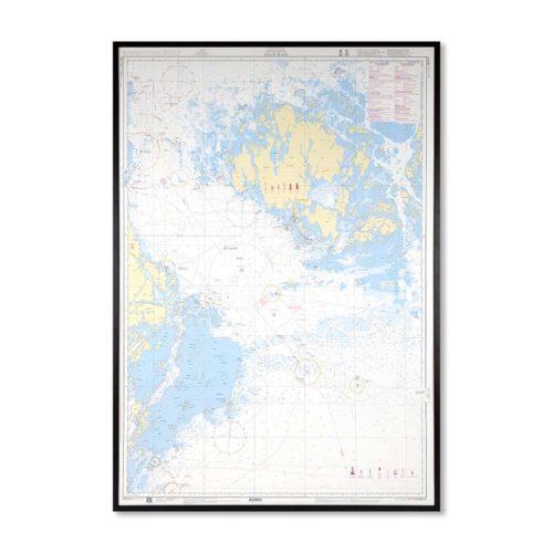 Inramat sjökort Ålands hav Sjökort 619 Kustkort