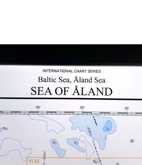Inramat sjökort Åland