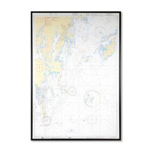 Sjökort 6171 Specialkort-över Nynäshamn för vägg