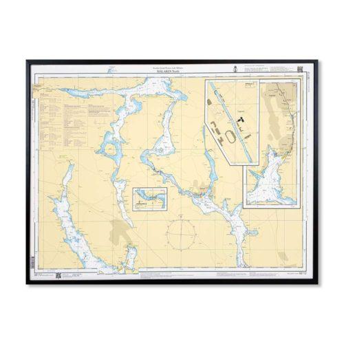 Sjökort-112-med-träram-för-väggen-Mälaren-Norra-SE112-01