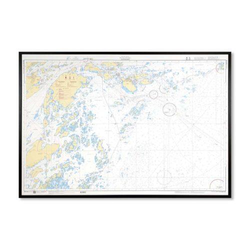 Sjökort-på-väggen-sandhamn-INT1236SE6144-Sjökort 6144