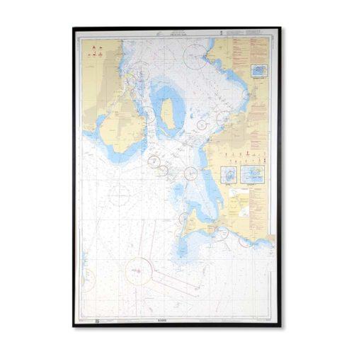 Sjökort-tavla-Öresund-Södra-SE921-01