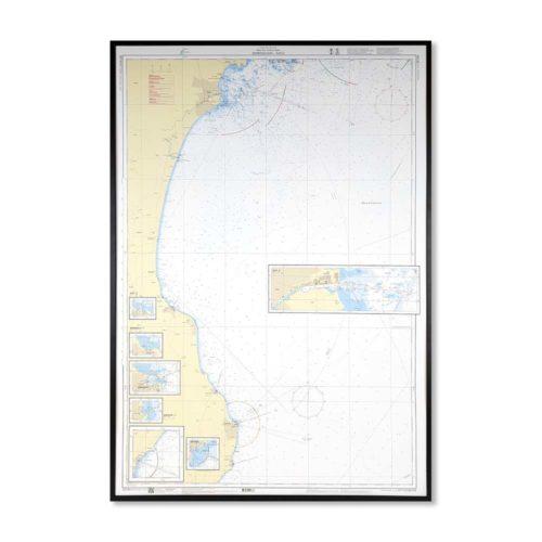 inramat sjökort 743 över Simrishamn-Åhus
