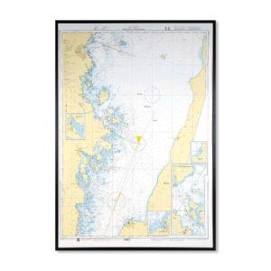 sjökort-med-ram-borgholm-oskarshamn-INT1761SE711-Sjökort 711