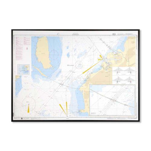 sjökort-med-ram-flintrännan-INT1321SE8141-Sjökort 8141