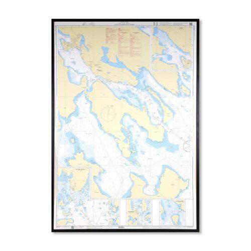 sjökort på väggen Luleå Haparanda hamn-INT1180SE4101-01