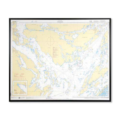 sjökort-på-väggen-nämdofjärden-INT1769SE6145-Sjökort 6145