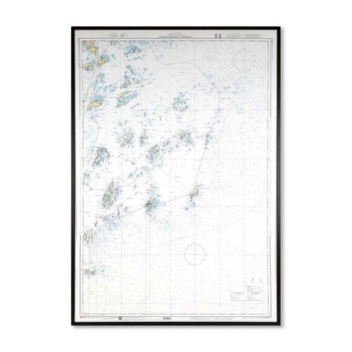 sjökort-på-väggen-svenska-högarna-rödlöga-INT1774SE613-01 Sjökort 613