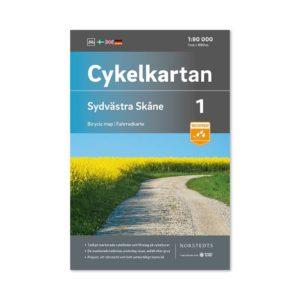 Cykelkarta 1 Syd västra Skåne 9789113106076 bicycle map Fahrraadkarte
