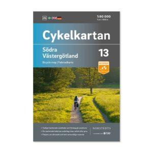 Cykelkarta 13 Södra Västergötland framsida katalog 9789113106199