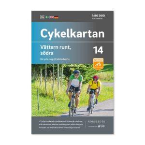 Cykelkarta 14 bild framsida katalog Vättern runt södra delen