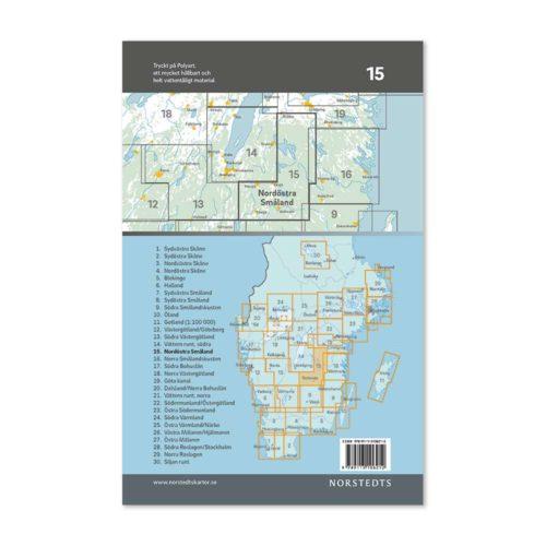 Cykelkarta 15 katalogbild baksida Nordöstra Småland 9789113106212