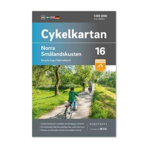 Cykelkarta 16 katalogbild Framsida Norra Smålandskusten 9789113106229
