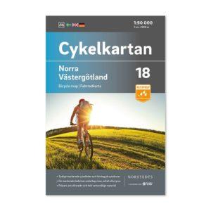 Cykelkarta 18 Norra Västergötland framsida 9789113106243