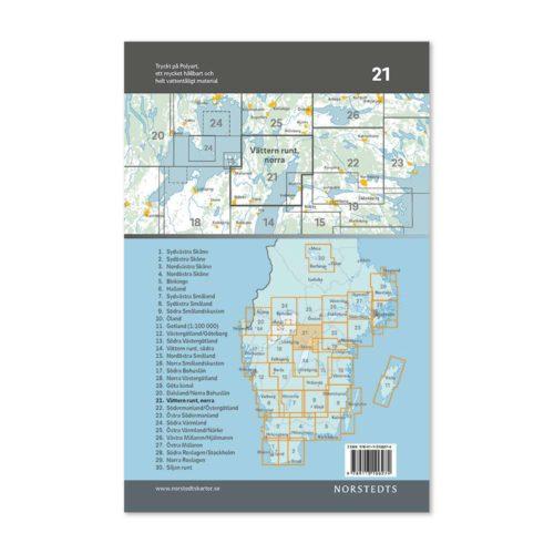 Cykelkarta 21 Vättern runt norra delen 9789113106274-2