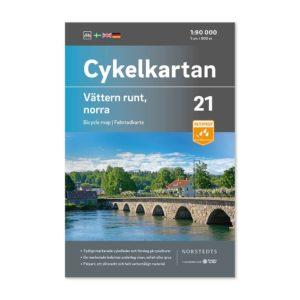 Cykelkarta 21 Vättern runt norra delen 9789113106274