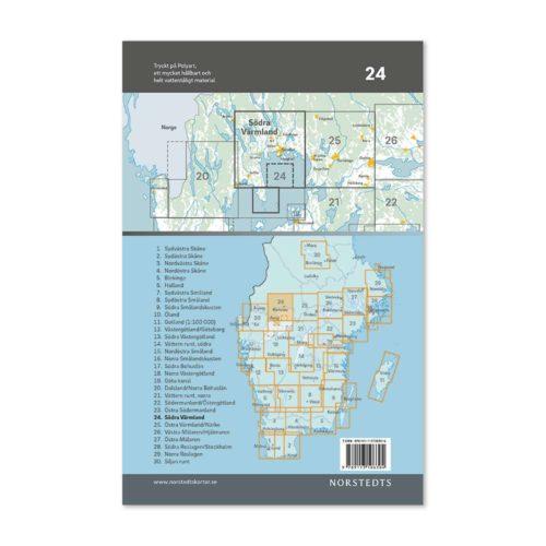 Cykelkarta 24 Södra Värmland 9789113106304-1