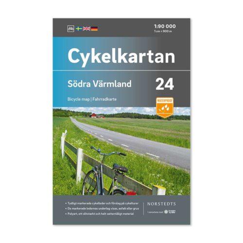 Cykelkarta 24 Södra Värmland 9789113106304