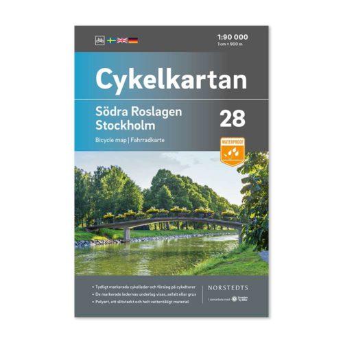 Cykelkarta sverige 28 Södra Roslagen Stockholm 9789113106342