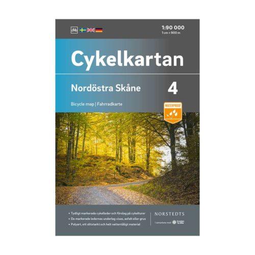 Cykelkarta 4 Nordöstra Skåne bild framsida 9789113106106