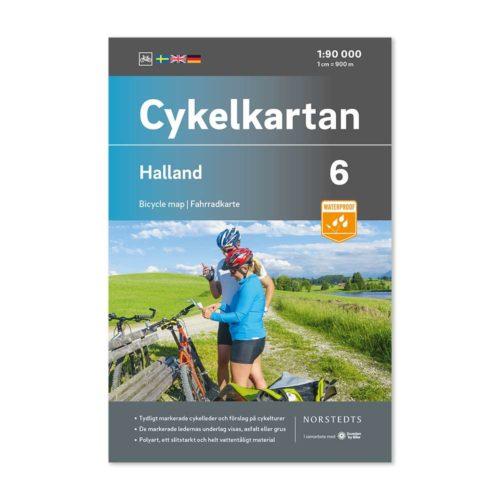 Cykelkarta 6 Halland bild framsida 9789113106120