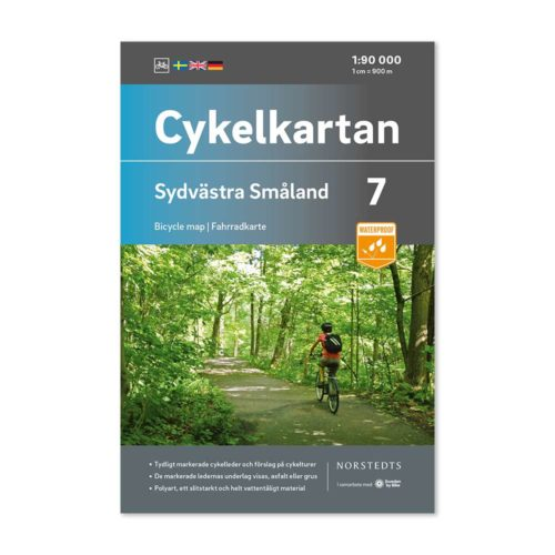 Cykelkarta 7 Sydvästra Småland bild framsida 9789113106137