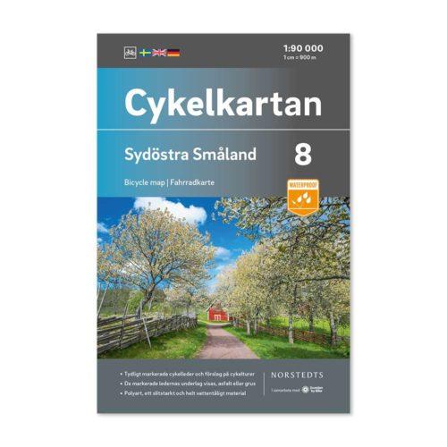Cykelkarta 8 Sydöstra Småland bild framsida 9789113106144