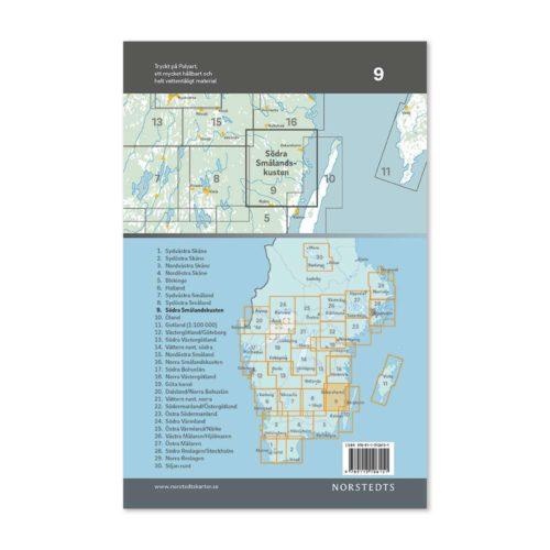 Cykelkarta 9 Södra Smålandskusten bild baksida katalog 9789113106151