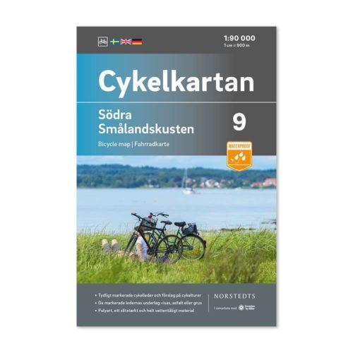 Cykelkarta 9 Södra Smålandskusten bild framsida katalog 9789113106151