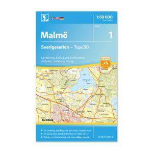 Friluftskarta 1 Malmö 150000 bild framsida 9789113085647