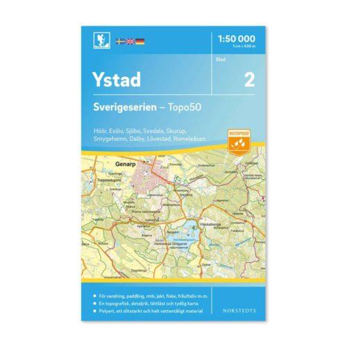 Friluftskarta 2 Ystad bild framsida 9789113085654