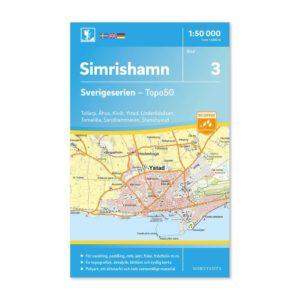 Friluftskarta 3 Simrishamn bild framsida 9789113085661