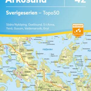 Friluftskarta 42 Arkösund 9789113086057 (1)