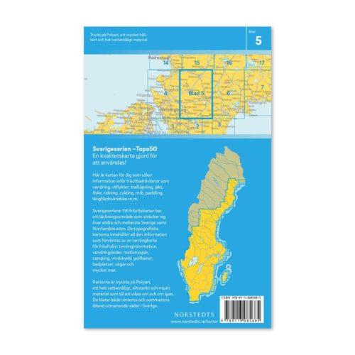 Friluftskarta 5 Hässleholm Knäred, Markaryd, Emmaljunga, Söderåsen, Örkelljunga, Ljungbyhed, Tjörnarp