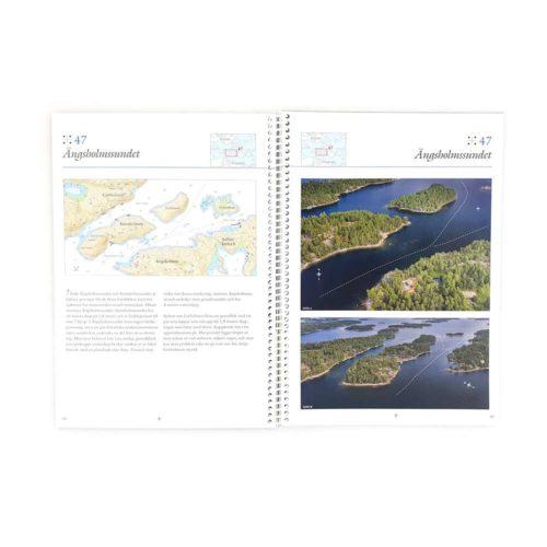 Sjökort Hydrographica genvägar i Stockholmsskärgård mittuppslag GV61-1