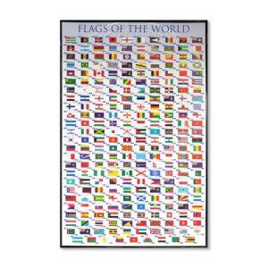 Tavla flaggor över länder med huvudstäder Flags of the world