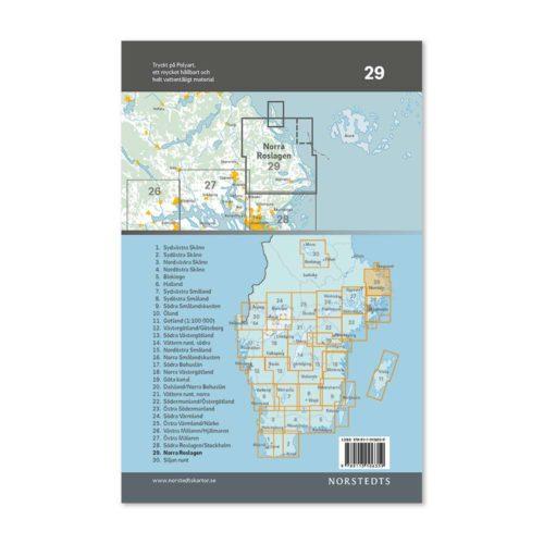 cykelkarta 29 norra Roslagen 9789113106359-1