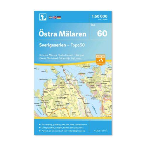 60 Östra Mälaren Sverigeserien friluftskarta 9789113086231