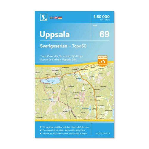 69 Uppsala Sverigeserien friluftskarta 9789113086323
