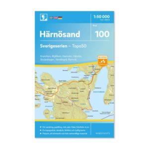 Friluftskarta 100 Härnösand Sverigeserien kort vandreture sverige art.nr 9789113086637