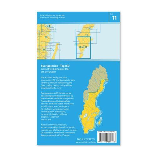 Friluftskarta 11 Södra Gotland 9789113085746 Västergarn, Klintehamn, Ljugarn, Hemse, Burgsvik, Hoburg (2)