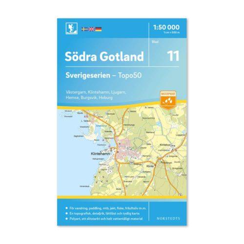 Friluftskarta 11 Södra Gotland 9789113085746 Västergarn, Klintehamn, Ljugarn, Hemse, Burgsvik, Hoburg
