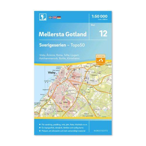 Friluftskarta 12 Mellersta Gotland 9789113085753
