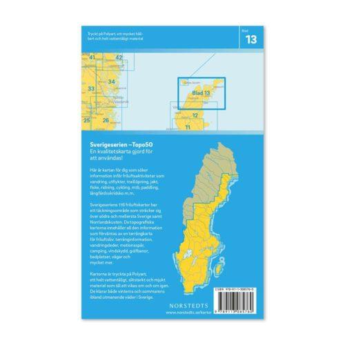 Friluftskarta 13 Norra Gotland 9789113085760 Gotska Sandön, Fårö, Kapellshamn, Slite, Tingsläde och Väskinde (2)