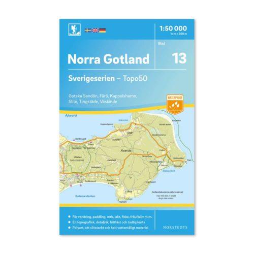 Friluftskarta 13 Norra Gotland 9789113085760 Gotska Sandön, Fårö, Kapellshamn, Slite, Tingsläde och Väskinde