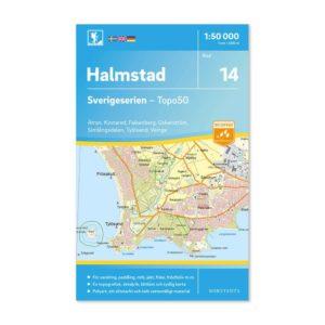Friluftskarta 14 Halmstad Sverigeserien 9789113085777