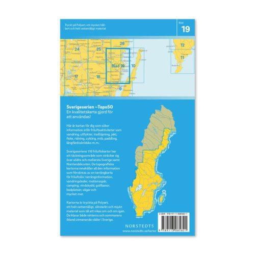 Friluftskarta 19 Oskarshamn Sverigeserien 97891130852821 baksida